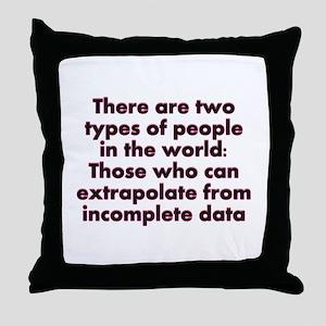 Extrapolate This... Throw Pillow