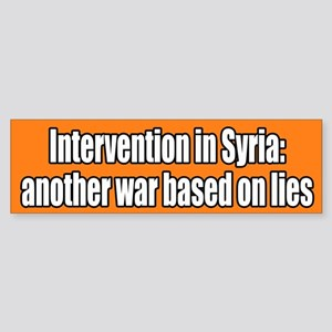 Syria War Lies Bumper Sticker