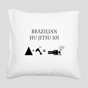Brazilian Jiu Jitsu Theory Square Canvas Pillow