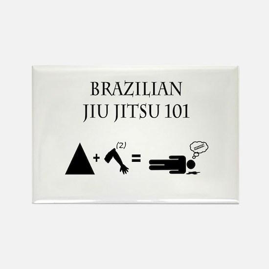Brazilian Jiu Jitsu Theory Rectangle Magnet