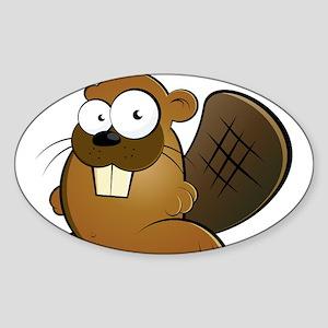 Cartoon Beaver Sticker