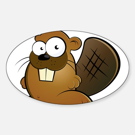 Cartoon Beaver Decal