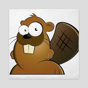 Cartoon Beaver Queen Duvet