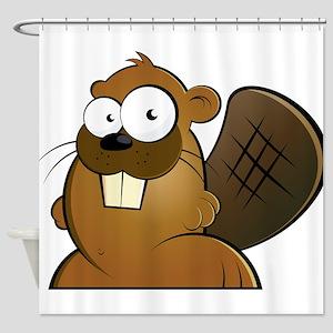 Cartoon Beaver Shower Curtain