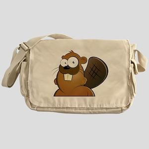 Cartoon Beaver Messenger Bag
