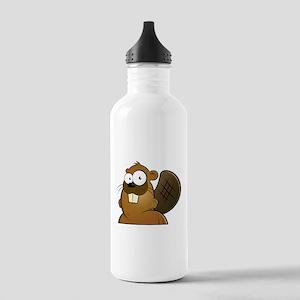 Cartoon Beaver Water Bottle