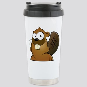 Cartoon Beaver Travel Mug