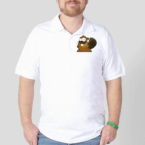Cartoon Beaver Golf Shirt