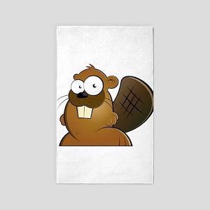 Cartoon Beaver 3'x5' Area Rug