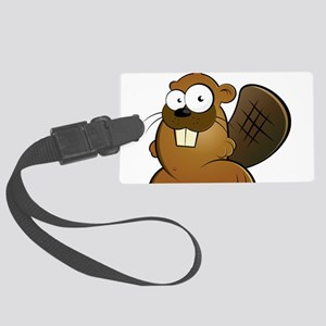 Cartoon Beaver Luggage Tag