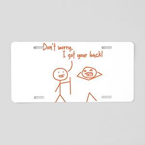 Unique Funny I Got Your Back Stick Figures Aluminu