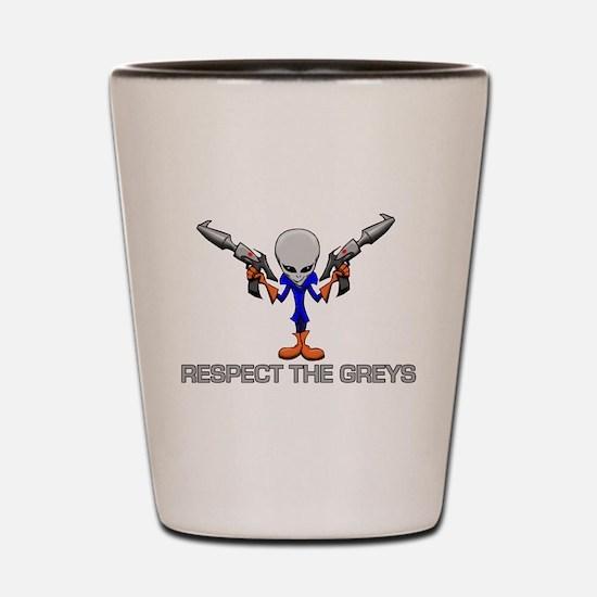 RESPECT THE GREYS Shot Glass