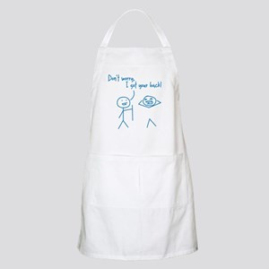 Unique Funny I Got Your Back Stick Figures Apron
