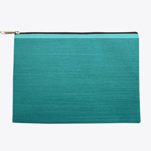Brushed Teal Makeup Pouch