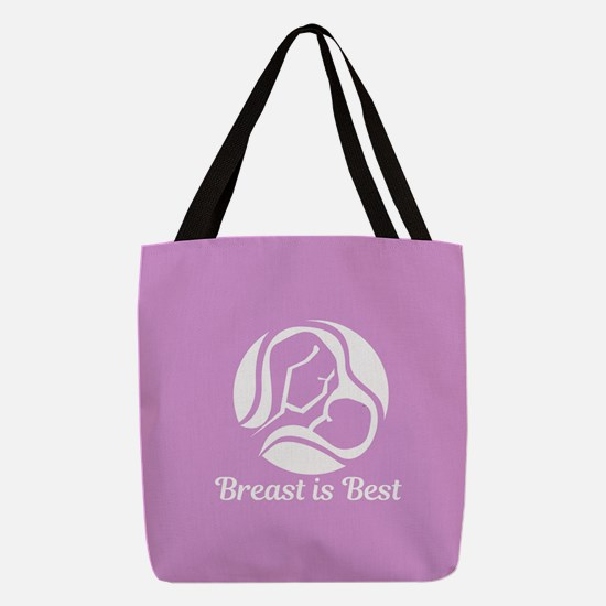 Breast is Best Polyester Tote Bag