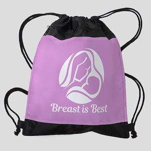 Breast is Best Drawstring Bag