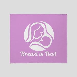 Breast is Best Throw Blanket