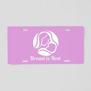 Breast is Best Aluminum License Plate