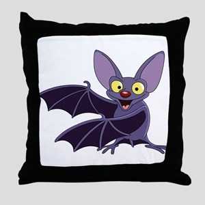 Funny Bat Throw Pillow