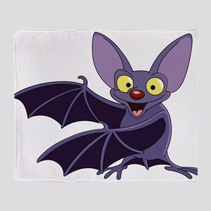 Funny Bat Throw Blanket