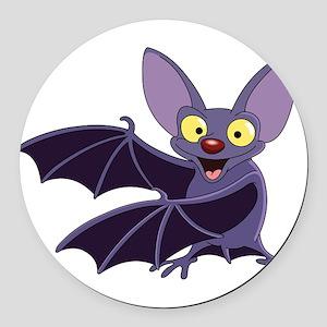 Funny Bat Round Car Magnet