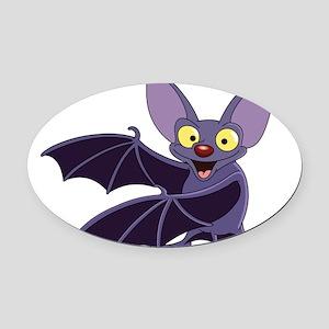 Funny Bat Oval Car Magnet