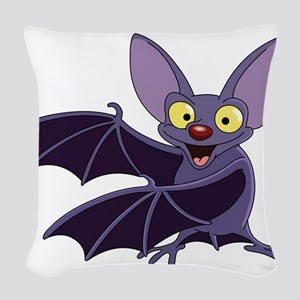 Funny Bat Woven Throw Pillow
