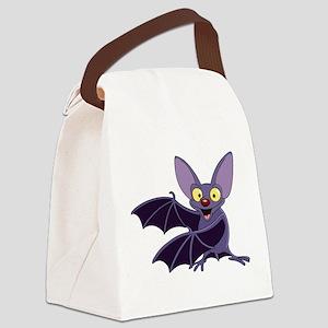 Funny Bat Canvas Lunch Bag