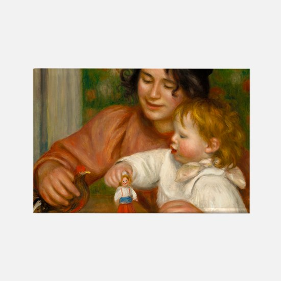 Child with Toys by Auguste Renoir Magnets