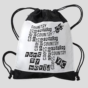 Cross Country Runs Drawstring Bag