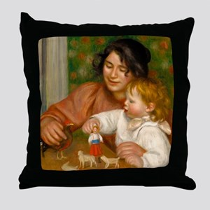 Child with Toys by Auguste Renoir Throw Pillow