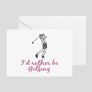 I'd rather be golfing Greeting Cards (Pk of 10