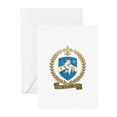 CHEVARIE Family Crest Greeting Cards (Pk of 10