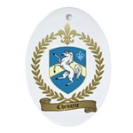 CHEVARIE Family Crest Oval Ornament