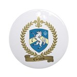 CHEVARIE Family Crest Ornament (Round)