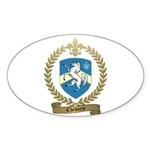 CHEVARIE Family Crest Oval Sticker
