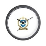 CHEVARIE Family Crest Wall Clock