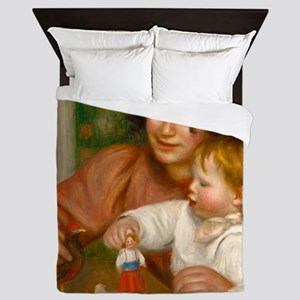 Child with Toys by Auguste Renoir Queen Duvet