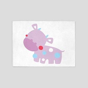 Purple Baby Cow 5'x7'Area Rug