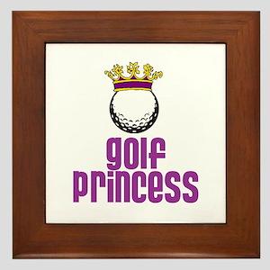 Golf Princess Framed Tile