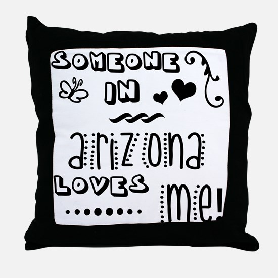 Funny Someone california loves me Throw Pillow