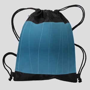 Blue Line Print Drawstring Bag