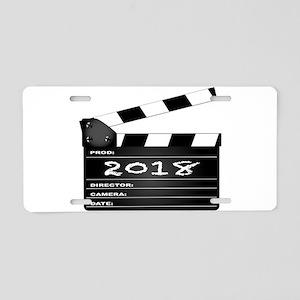 2018 Clapper Board Aluminum License Plate