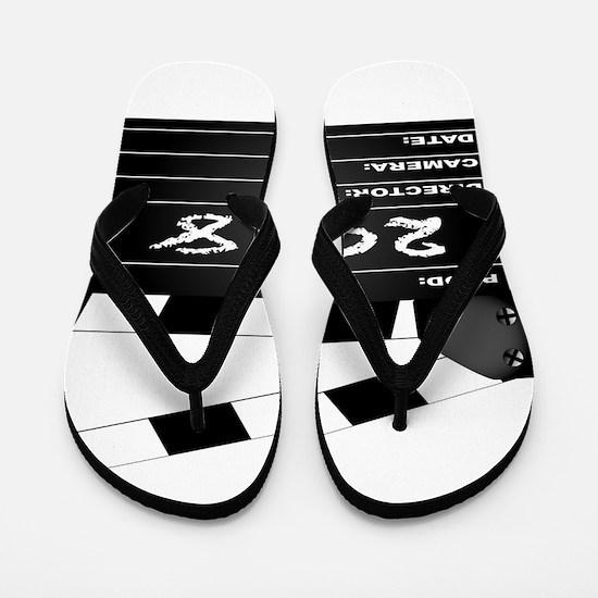 2018 Clapper Board Flip Flops