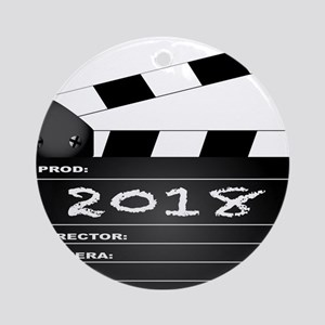 2018 Clapper Board Round Ornament