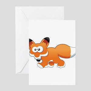 Cartoon Fox Greeting Card