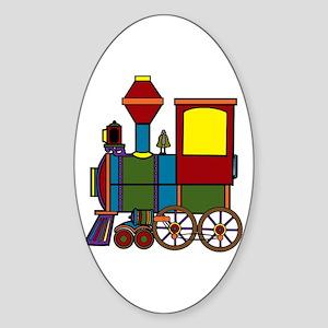 Choo-Choo Train Oval Sticker