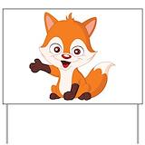 Baby fox Yard Signs