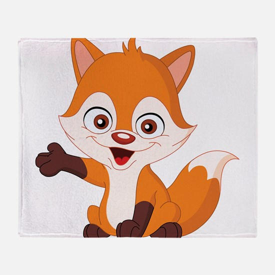 Baby Fox Throw Blanket