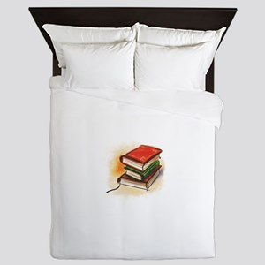 2-33-bookss Queen Duvet